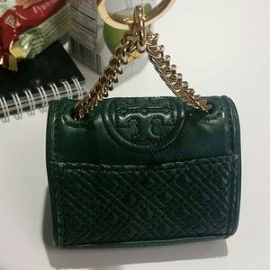 Tori Burch keychain purse